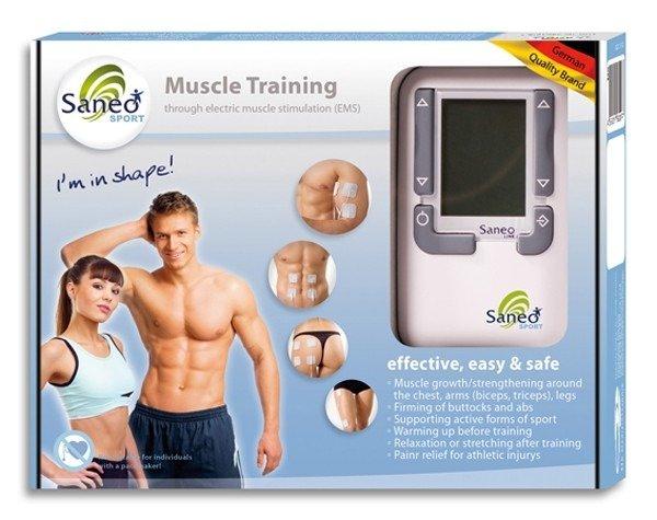 Tylko na zewnątrz Elektrostymulator mięśniowy i przeciwbólowy SaneoSPORT (EMS+TENS) WN73
